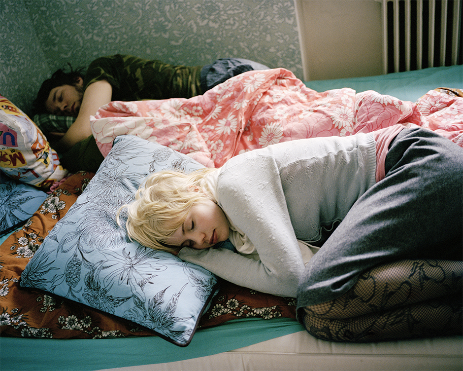 Minna and Joonas sleeping at my place, 2005